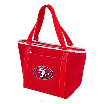 red nfl cooler tote