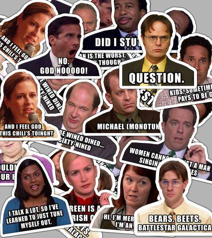 the office sticker set