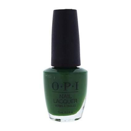 Dark green OPI nail polish