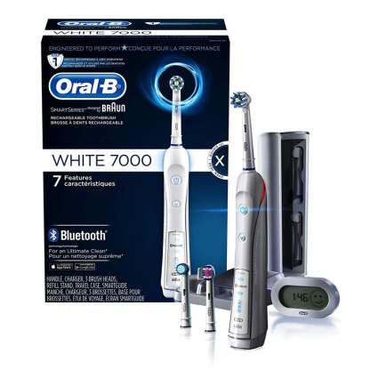 Oral-B WHITE 7000 SmartSeries Power Rechargeable Electric Toothbrush