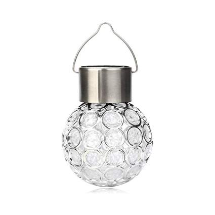 color changing outdoor solar light ball