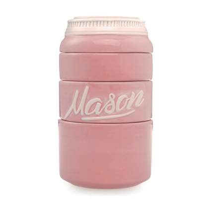 pink mason jar measuring cups