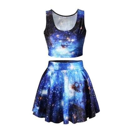 Pink Queen shirt and skirt set astronomy gifts