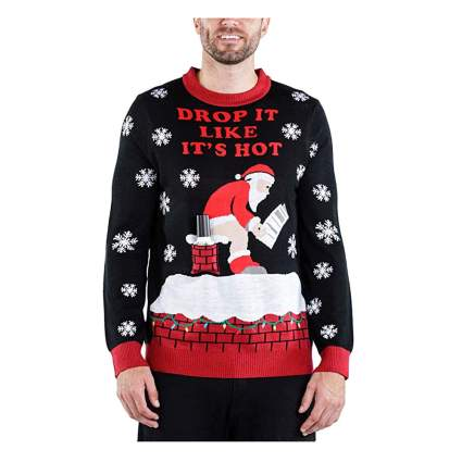 santa pooping ugly christmas sweater