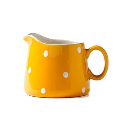 polka dot porcelain creamer pitcher