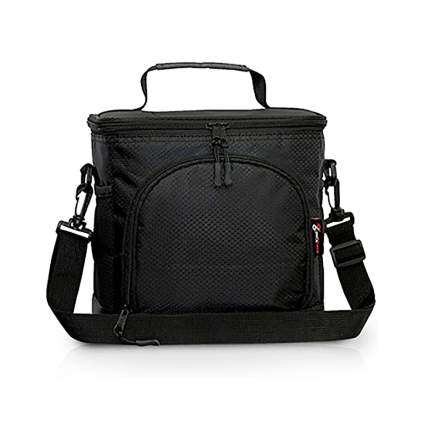 black insulated lunch box