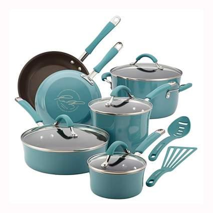 aqua non-stick 12 piece cookware set
