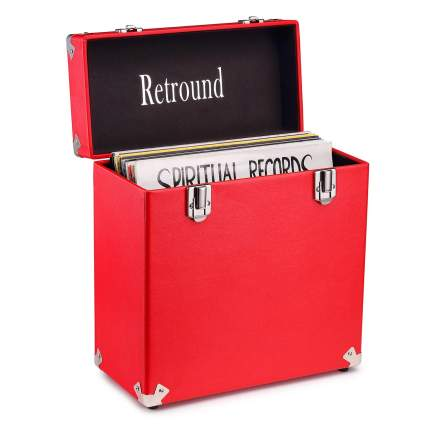 Victrola Vintage Record Storage Carrying Case For 45+ Records