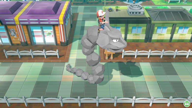 Rideable Pokemon in Pokemon Let's Go