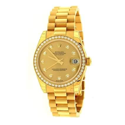 18k gold Rolex datejust watch