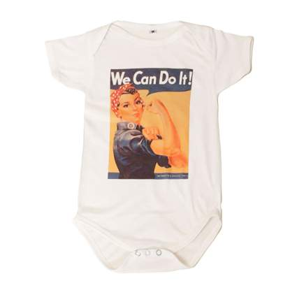 rosie the riveter baby onesie