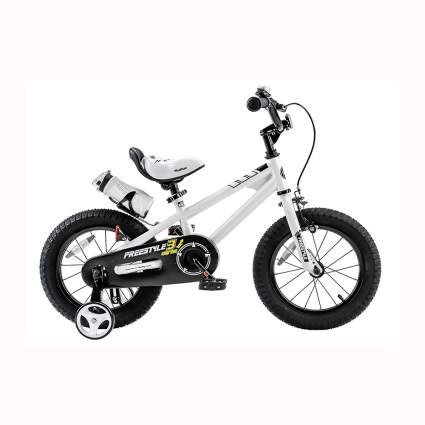white fat tire bmx kids bike
