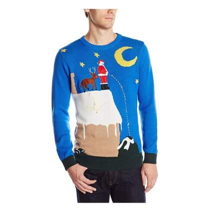 peeing santa christmas sweater