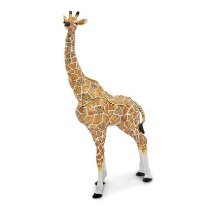 Rhinestone giraffe figurine
