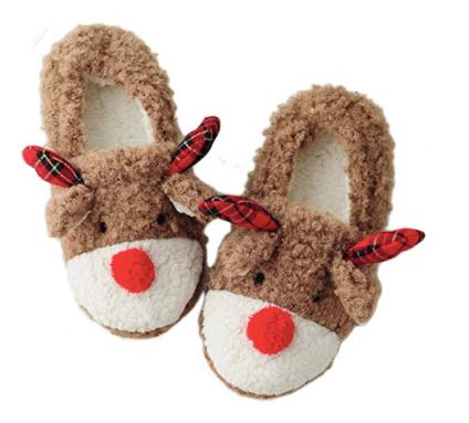 womens reindeer slippers