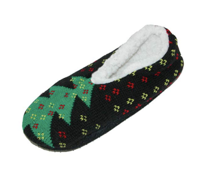 fleece christmas slippers