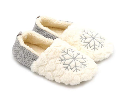 Fuzzy Mocassin Slippers