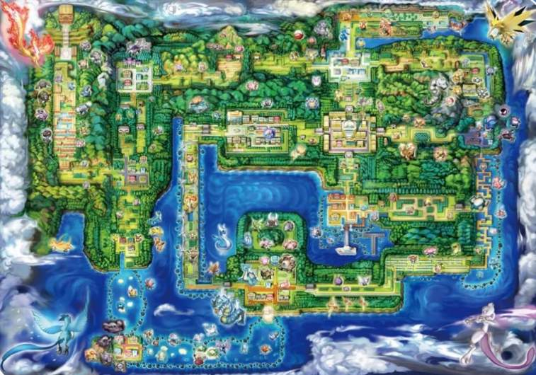 Pokemon Lets Go Map