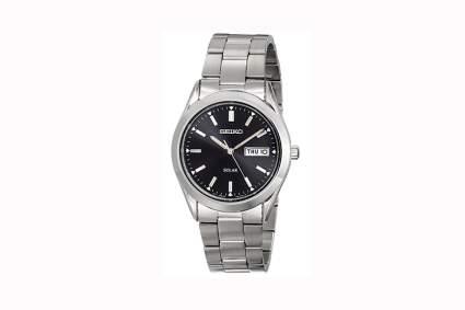 seiko men's solar calendar watch