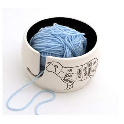 sheep parts knitting bowl