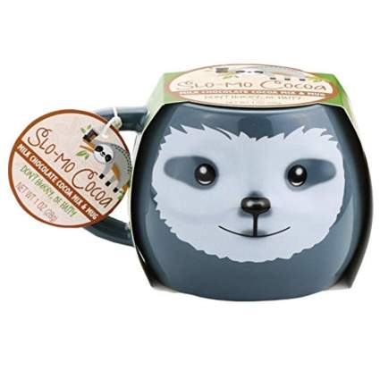 sloth hot cocoa mug