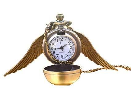 Golden Snitch Pocket Watch Necklace