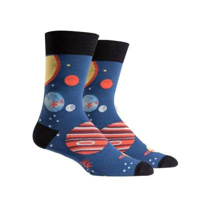 Sock It to Me planet socks astronomy gifts