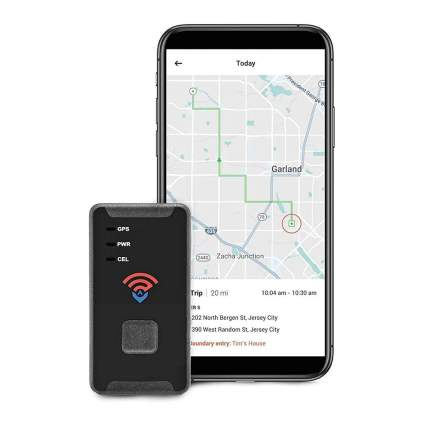 GPS tracker with smart phone