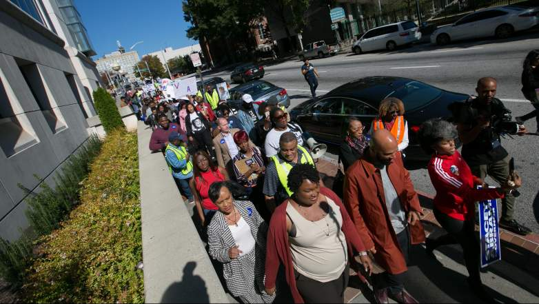 """Stacey Abrams leads """"Souls to the Polls"""" march"""