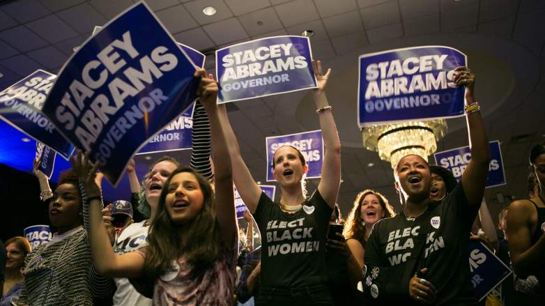 Stacey Abrams supporters