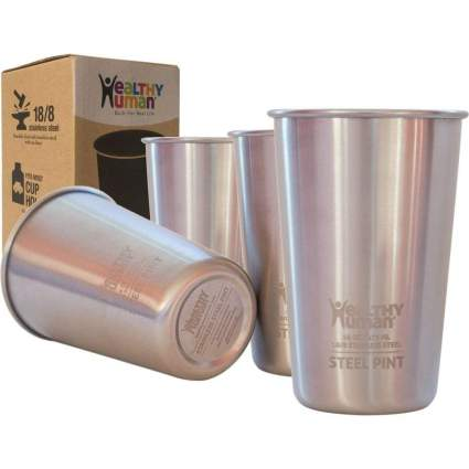 Healthy Human One Pint Stainless Steel Cups