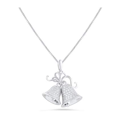 sterling silver christmas bells necklace