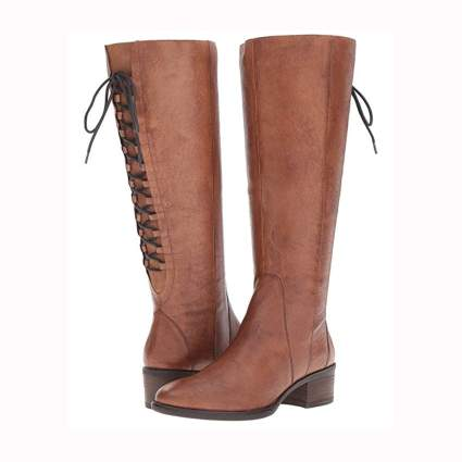 women's lace up western style leather boots