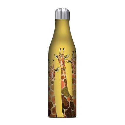 Yellow giraffe water bottle