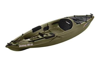green sit on top fishing kayak