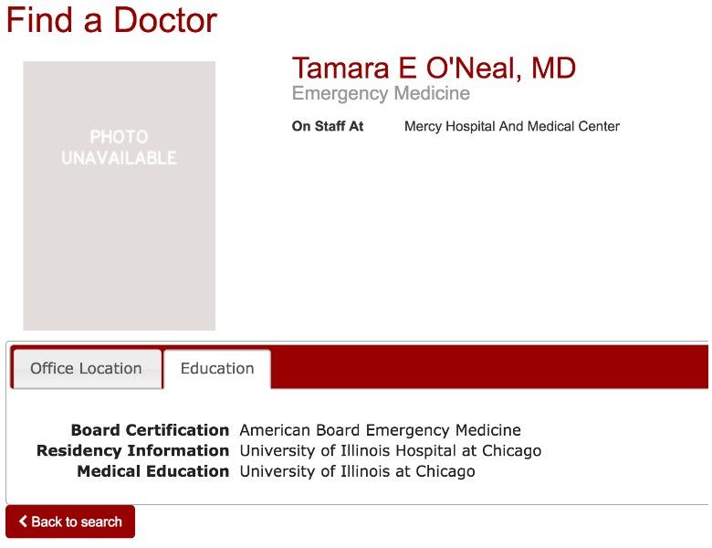 Tamara E O'Neal, MD