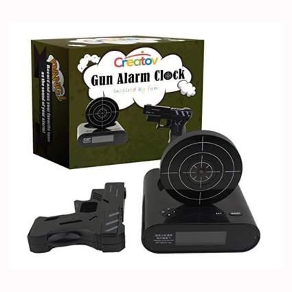target alarm clock with gun