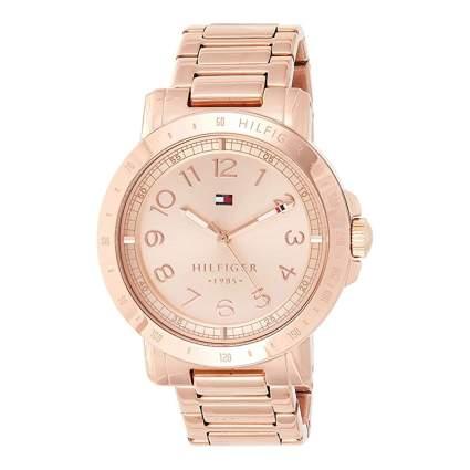 tommy hilfiger rose gold tone women's watch
