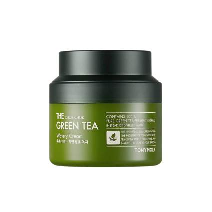 Green gel moisturizer bottlq