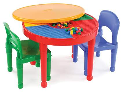 tot turots kids 2 in 1 plastic lego table