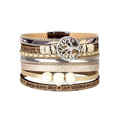 tree of life leather wrap bracelet