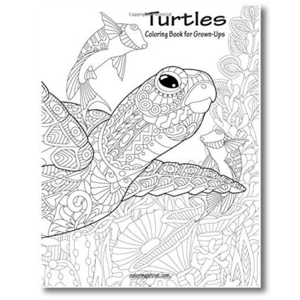 turtle adult coloring book