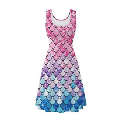 Pastel mermaid scale dress