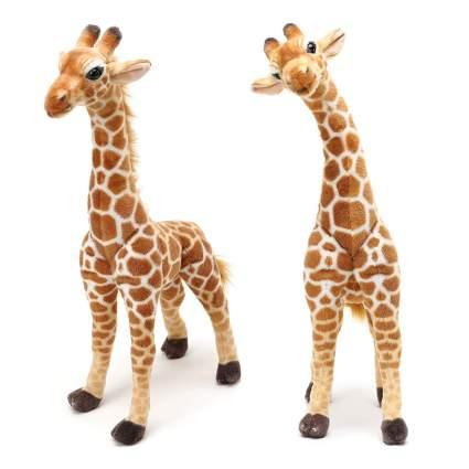 Two giraffe plush toys
