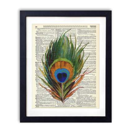 Vintage Book Art Co. peacock gifts