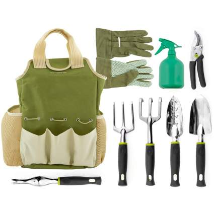 nine piece garden tool set