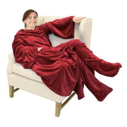 wearable fleece blanket