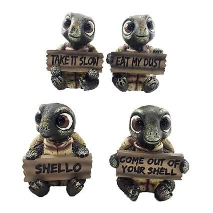 whimsical baby tortoise figurines