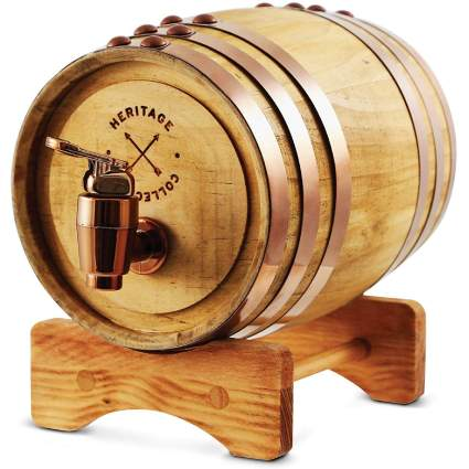 REFINERY AND CO Miniature Wood Whiskey Aging Barrel Dispenser & Mini Infuser