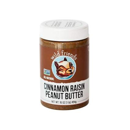 organic cinnamon raisin peanut butter